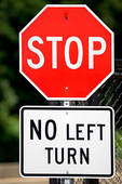 stop no left turn