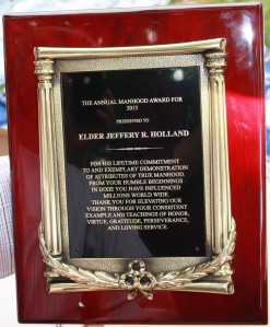 Elder Holland Manhood Award