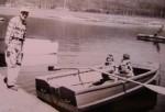 Grandpa and boys fishing